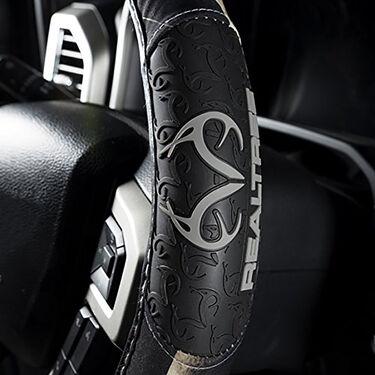 Realtree 2-Grip Steering Wheel Cover, Realtree AP Black Camo