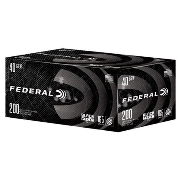 Federal Black Pack Ammo, .40 S&W Auto
