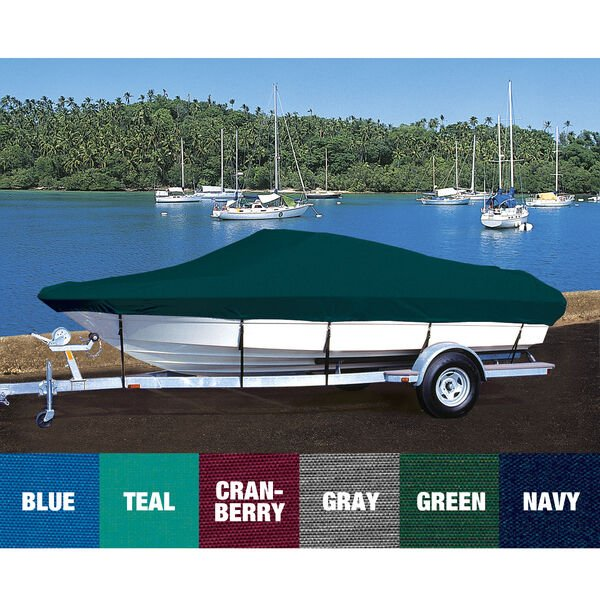 Custom Fit Hot Shot Coated Polyester Boat Cover For SUNBIRD 170 F & S BOW RIDER
