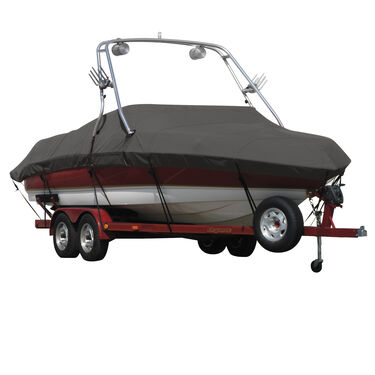Exact Fit Covermate Sharkskin Boat Cover For TIGE 20 V RIDERS EDITION w/WAKE DESIGNS TOWER COVERS SWIM PLATFORM