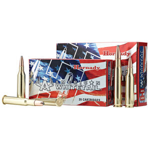 Hornady American Whitetail Rifle Ammo, 7mm-08 Rem.