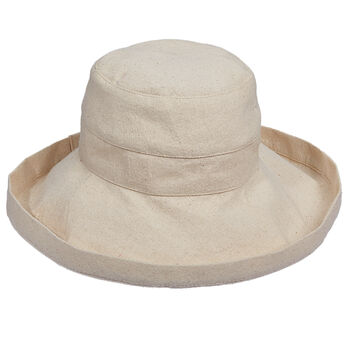 "Dorfman Pacific Scala Collezione Women's Cotton Sun Hat - 3"" Brim"