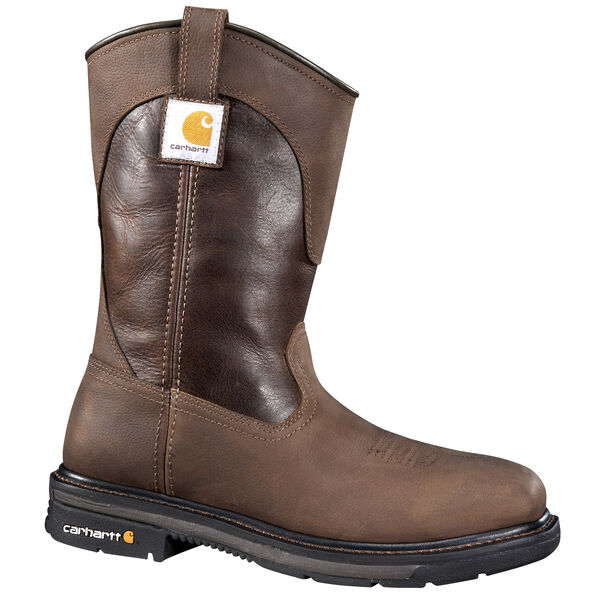 """Carhartt Men's 11"""" Brown Safety Square Toe Wellington Boot"""