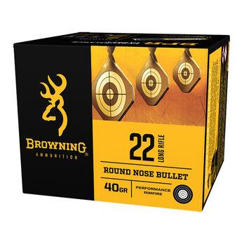 Browning BPR Performance Rimfire Ammunition, .22 LR, 40-gr., 400-Rounds