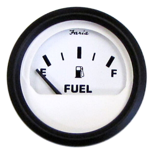 "Faria 2"" Euro White Series Fuel Level Gauge"