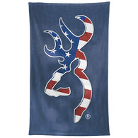 Browning Patriotic Buckmark Beach Towel