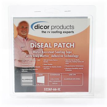 """Dicor DiSeal Patch - 6"""" x 6"""" Patch - White"""