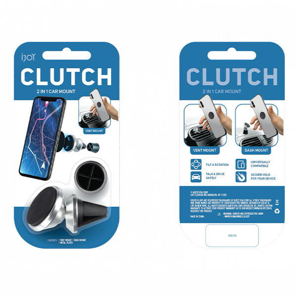 iJoy Clutch Cell Phone 2-in-1 Magnetic Car Mount