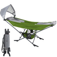 Mock ONE Portable Folding Hammock, Green/Gray