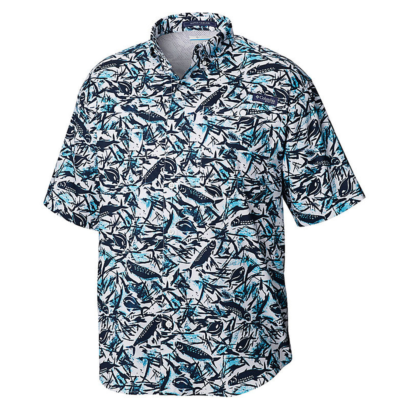 Columbia Mens PFG Super Tamiami Short Sleeve Shirt UPF 40 Sun Protection Wicking Fabric