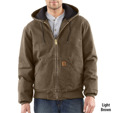 14466f395a2 Carhartt Men's Quilted Flannel-Lined Sandstone Active Jacket ...