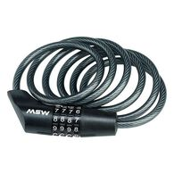 MSW CLK-110 Combination Cable Lock, 10mm x 6', Black