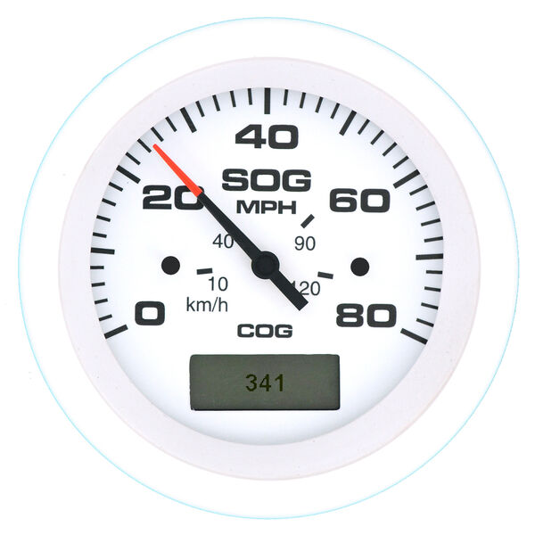 """Sierra Arctic 3"""" GPS Speedometer With LCD Heading Display, 80 MPH"""