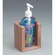 SeaForce Teak Liquid Soap Holder for 10-1/2 oz. Bottle
