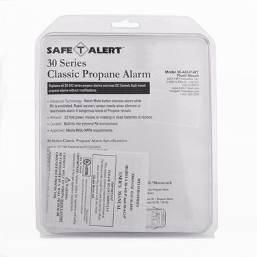 Classic LP Gas Alarm Flush Mount, White