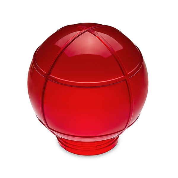 Camco Replacement Globe for Globe Light Set, Red
