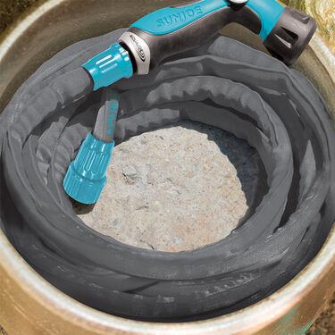 Aqua Joe Ultra-Flexible Kink-Free Fiber-Jacket Garden Hose