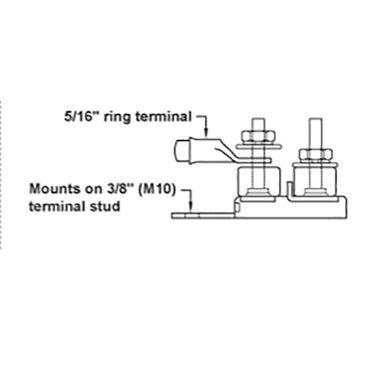 Blue Sea Terminal Fuse Block (MRBF), 2 Terminal Studs