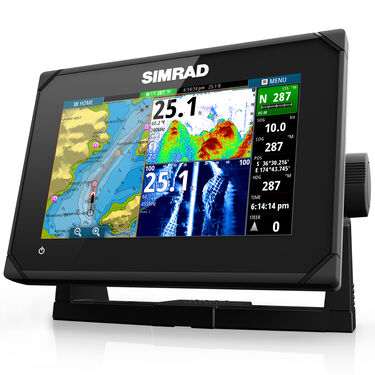 Simrad GO7 XSE Fishfinder Chartplotter With Basemap and HDI Transducer