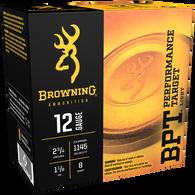 "Browning BPT Performance Target Shotshell Loads, 12-ga., 2-3/4"", 1-1/8 oz., #8"