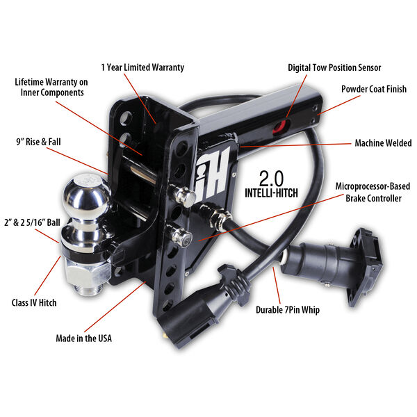 "Intelli-Hitch Trailer Brake Control For 2"" Receiver"
