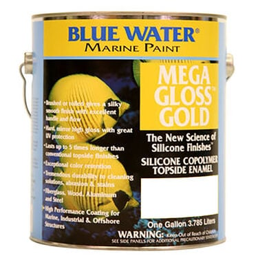 Blue Water Mega Gloss Gold Silicone Copolymer, Gallon