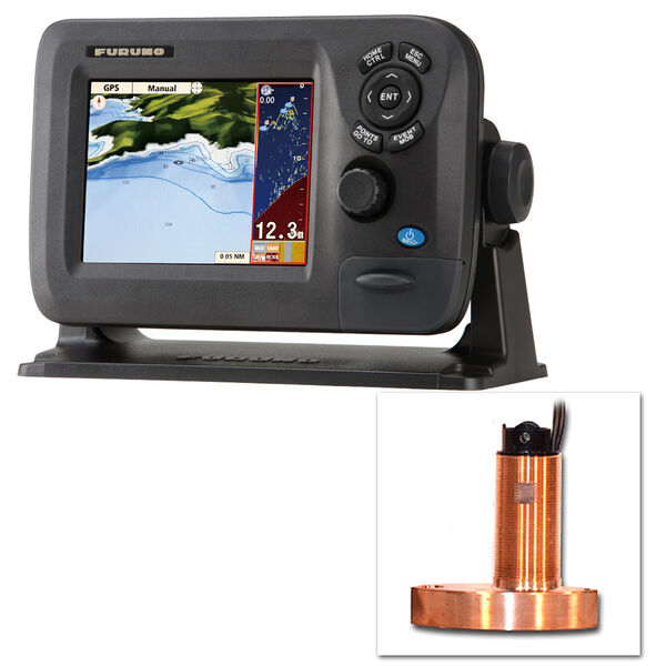 Furuno GP1670F Color GPS Chartplotter/Fishfinder Combo With Thru-Hull Transducer