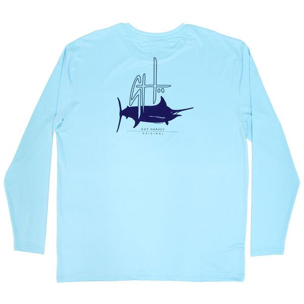 Guy Harvey Men's Initial Logo Performance Long Sleeve Shirt