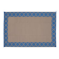 Reversible Trellis Design Patio Mat, 6' x 9', Denim