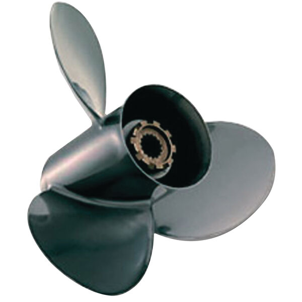 "Quicksilver Black Diamond 3-Blade Prop w/Hub / Aluminum, 9.25"" dia x 9"", RH"