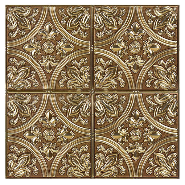 InHome Chelsea Bronze Faux Metallic Peel-and-Stick Tiles