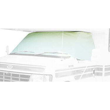 ADCO 2407 Class C Windshield Cover, 1996-2020 Ford RV Motorhome with Mirror Cutouts, White