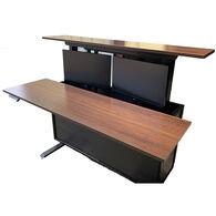 RV Dinette/Desk Combination Dual Monitor Workstation