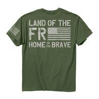 Buck Wear Men's Freedom Flag Short-Sleeve Tee