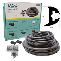 "TACO Marine Flexible Rub Rail Kit, 1-7/8"" X 1-3/8"", Black with Black Insert, 50 Feet"