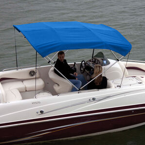 Shademate Polyester Stainless 4-Bow Bimini Top 8'L x 54''H 79''-84'' Wide