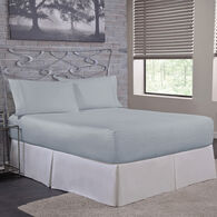Bed Tite 300 Thread Count Cotton Twin Sheet Set, Light Blue