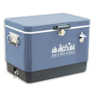 Home Is Where We Park It 54-Quart Stainless Steel Cooler