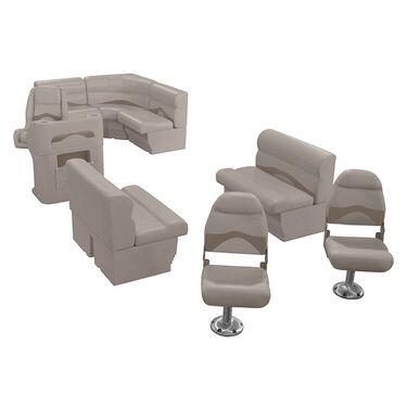 Toonmate Premium Pontoon Furniture Reversible Rear Entry Fishing Package Platinu