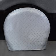 "Diamond Plate Silver Tyre Gards, 27"" to 29"""