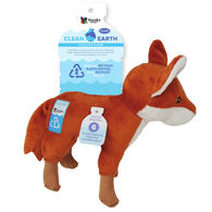 Spunky Pup Clean Earth Plush Fox Toy, Large