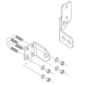 Roadmaster Reflex Steering Stabilizer Mounting Bracket, RBK15