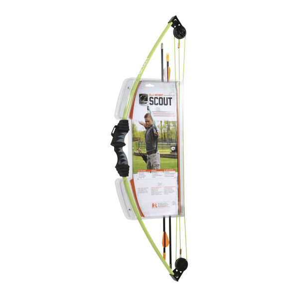 Bear Archery Scout Youth Bow Package, Flo Green