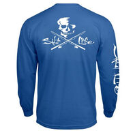 Salt Life Men's Skull and Poles Pocket Long-Sleeve Tee