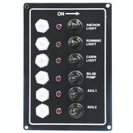 Overton's Waterproof 6-Gang Toggle Switch Panel w/LED Indicators