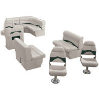 Toonmate Premium Pontoon Furniture Reversible Rear Entry Fishing Package Platinu