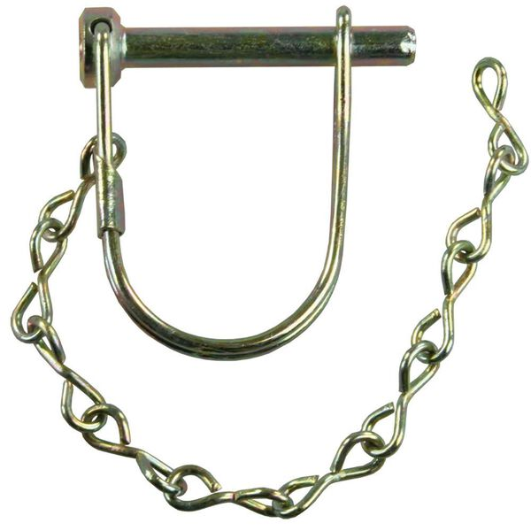 "Trailer Coupler Safety Pin Clip with Pin Saver, 1/4"" x 1 3/8"""