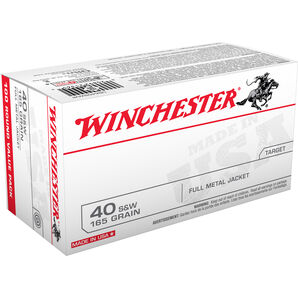 Winchester USA Handgun Ammo, .40 S&W, 165-gr., FMJ
