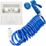 Dura Faucet RV Exterior Quick Connect Spray Box Kit, Blue