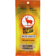 Wildlife Research Center Scent Killer Autumn Formula Dryer Sheets, 12-Pack